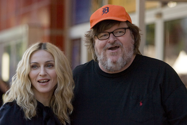 Madonna and Michael Moore at Traverse City Film Festival