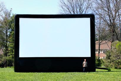 AIRSCREEN classic 9,15m x 5,15m - ideal für 250 - 750 Zuschauer - empfohlener Projektor: 6.000 ANSI Lumen