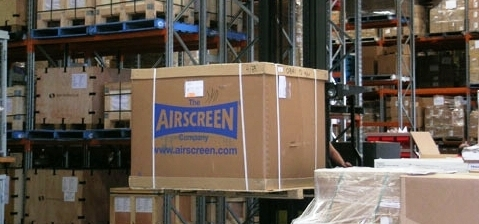 AIRSCREEN warehouse: We have several sizes in stock ready to ship for your event!