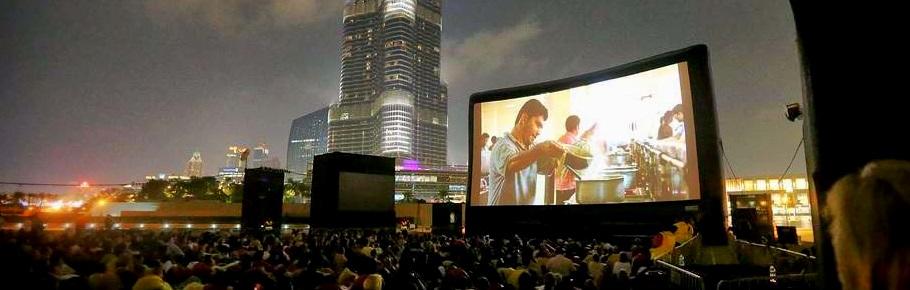 Il non plus ultra: AIRSCREEN classic 20 x 10m è lo schermo per chi è convinto che le dimensioni contino. Qui si trova al Dubai International Film Festival.