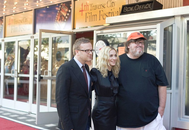 Madonna und Michael Moore auf dem Traverse City International Film Festival