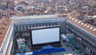 AIRSCREEN inflatable screen at Venice Film Festival: areal shot