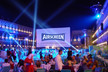 AIRSCREEN inflatable screen at Venice Film Festival by night