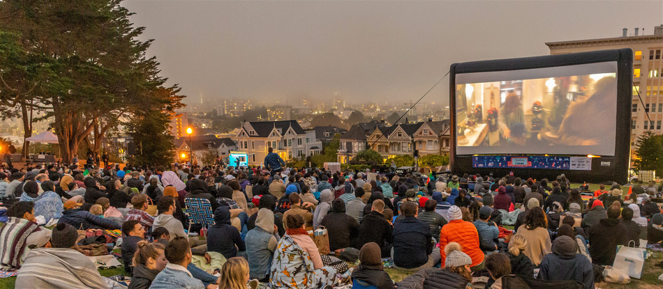 AIRSCREEN classic 12m x 6m à San Francisco,  Etats-Unis - photo de Paul Jackman, Funflicks USA