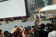 Director of HKIFF in front of Asia's largest AIRSCREEN®